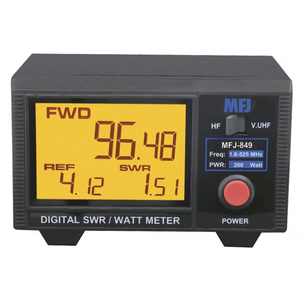 MFJ 849 Digital SWR/Power Meter HF/VHF/UHF 200W